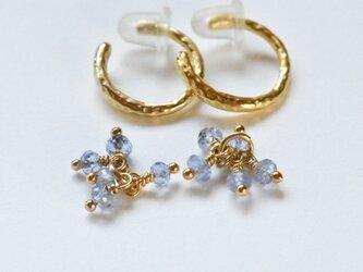 [EC] Bouquet (Tanzanite) Ear Clipsの画像