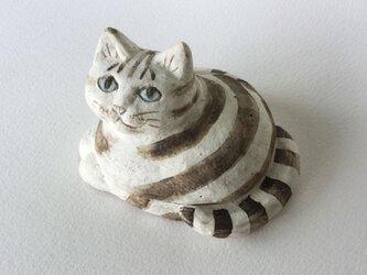 しましまとら猫の香合の画像
