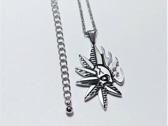 【スカルリーフネックレス】ドクロと葉の独特なデザイン / プレゼントとしてもおしゃれの画像