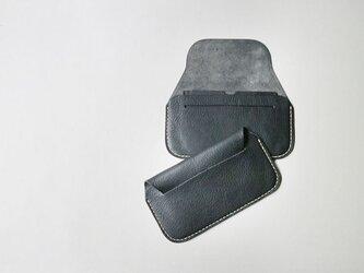手縫い長財布 BLACK(牛革)の画像