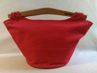 帆布 バッグ 赤の画像