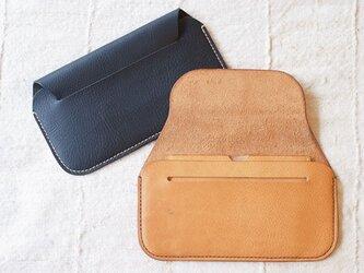 手縫い長財布 BEIGE(牛革)の画像
