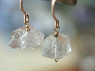 【14kgf】天然石ハーキマーダイアモンド ピアスの画像