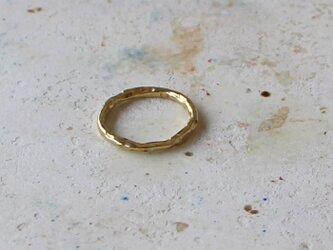 真鍮リング 凹凸の画像