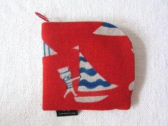 型染め 財布「ヨットの旅」の画像