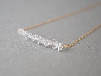 〔14kgf〕ハーキマーダイヤモンド ラインネックレス(TM-N019)の画像
