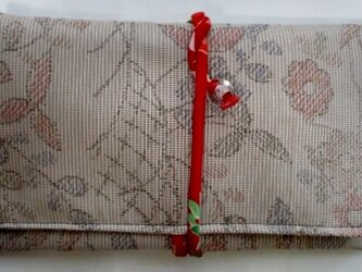 色大島紬で作った和風財布・ポーチ 3691の画像