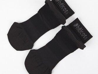 helcos ヒルコス 癒本舗 外反母趾 専用 30秒消臭 靴下 ブラック 黒 24~26cm つま先ゆったり 速乾の画像