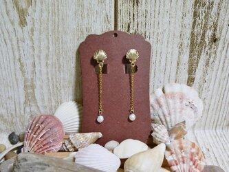 真珠のしずく イヤリングの画像