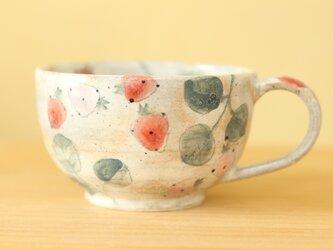 ※C様専用画面 粉引き赤とピンクのイチゴのカップ。の画像