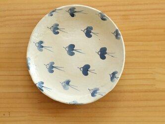 粉引幸せの青い鳥お皿。の画像