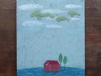 絵画「空のおさんぽ」の画像