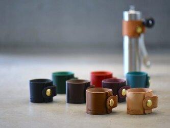 【カラーオーダー】POLEX ポーレックスコーヒーミル ハンドホルダー【ブッテーロレザー】革 珈琲の画像