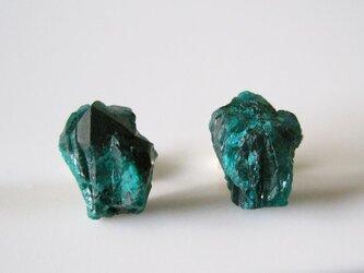 ダイオプテーズの原石ピアス/Congo14kgfの画像