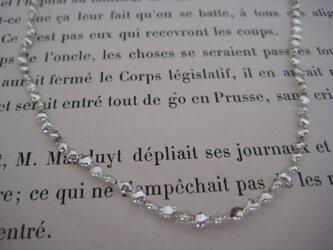 soufflé glass beads necklaceの画像