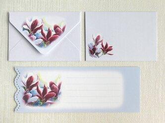 木蓮のミニ封筒&メッセージカード(外模様)の画像