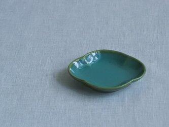 木瓜豆皿 糠青磁釉の画像