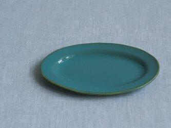 オーバル皿 S 糠青磁釉の画像
