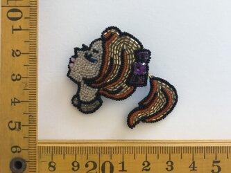 「B.B」 *リュネビル刺繍ブローチの画像