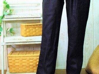 リネンゆったりパンツ M~5L日本製 お色は4色・サイズはM~2L,3L~5Lからお選びください。 プチオーダー可!の画像