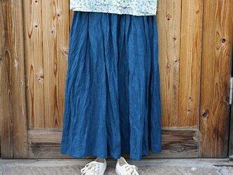 ギャザースカート:青の画像