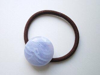 天然石の髪飾り「ブルーレースアゲート」の画像