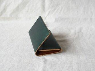 名刺入れ 《 Dark Green & Brown 》の画像