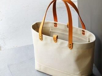 たっぷり容量6号帆布のトートバッグ~マッシュルーム(倉敷帆布)~の画像