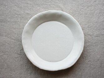hirahiraまる皿(白釉)の画像