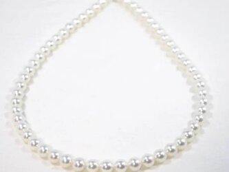 パール ネックレス あこや 7.5-8ミリ 無調色 国産 真珠の画像