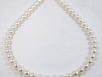 パール ネックレス あこや 8.5-9ミリ 無調色 国産 真珠の画像