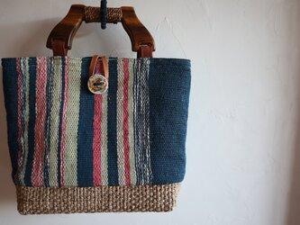 手織りトートの画像