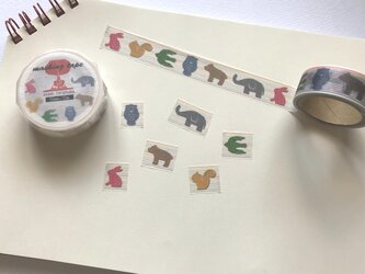 動物カラーA マスキングテープの画像