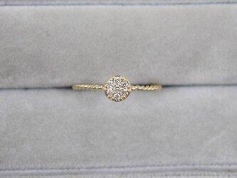 【受注生産】K18YG ダイヤ リング 0.1ct イエローゴールド YG 18K 華奢 ダイヤモンド 丸 ラウンドの画像