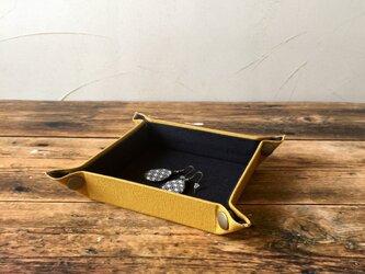受注制作  帆布で作ったマルチトレイ   ミニ    マスタードの画像