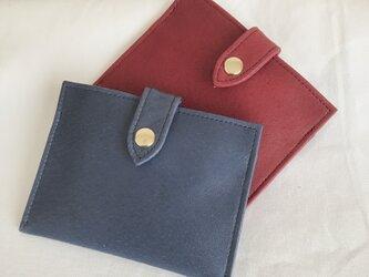 2番目のお財布 渋い青色の画像
