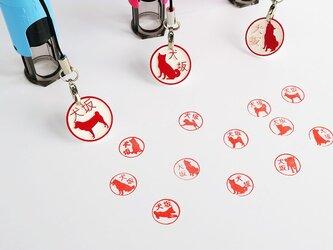 12種類 柴犬 認印 はんこストラップ付の画像