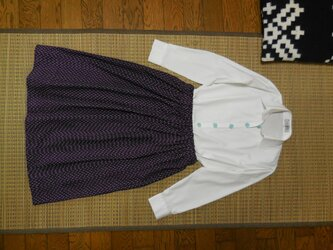 セール!久留米絣のスカート(濃紺)の画像