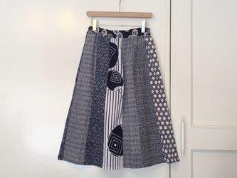 着物リメイク 浴衣地はぎスカート(SK011)の画像