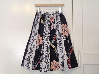 着物リメイク 浴衣地はぎスカート(SK013)の画像