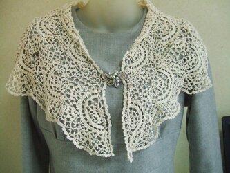 かぎ針編みの、ストールの画像