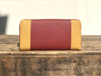 ウンドファスナー 財布   / レッド × イエローの画像