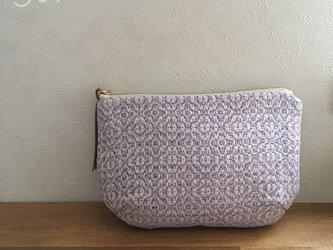 pouch[手織りポーチ] ラベンダーの画像