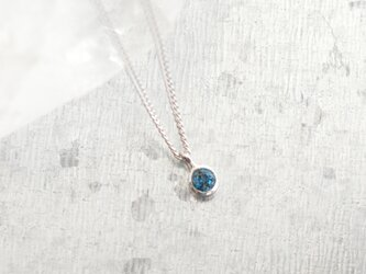 《受注製作》London Blue topaz necklaceの画像