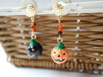 おばけかぼちゃのピアスの画像