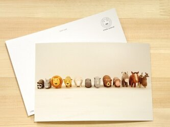 Little animal postcard (2枚入り)の画像