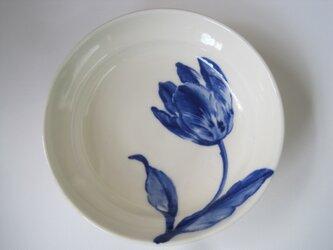 チューリップ絵皿の画像