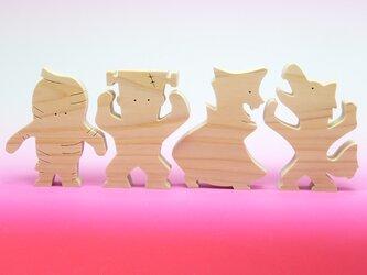 送料無料 木のおもちゃ ハロウィンモンスターズの画像