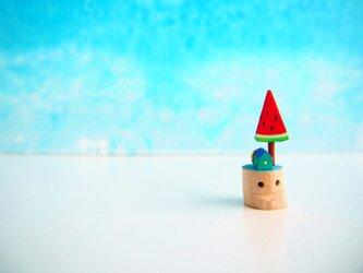 小枝ちゃんとスイカの木 ペンダントの画像