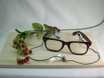 テラヘルツ結晶体眼鏡シルクホルダーの画像